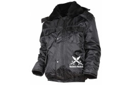 Черная куртка охранника утеплённая
