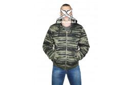Камуфлированная куртка-толстовка на замке с капюшоном
