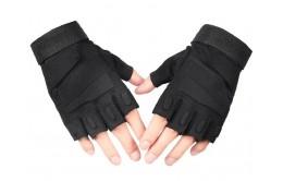 Перчатки беспалые с накладками Black