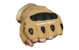 """Тактические защитные беспалые перчатки """"Khaki"""""""