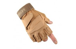 Перчатки беспалые с накладками Khaki