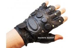 Перчатки беспалые кожаные