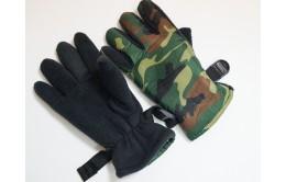 Перчатки утеплённые камуфляжные