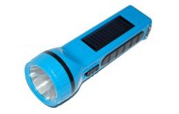 Фонарь ручной аккумуляторный с подзарядкой от солнца