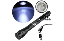 Телескопический гибкий фонарик с магнитом