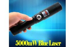 Мощная синяя лазерная указка в кейсе 5000 mW