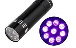 Ультрафиолетовый фонарь 9Led