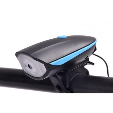 Велосипедный USB фонарь с сигналом
