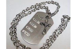 Жетон металлический армейский с крестиком.