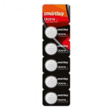Батарейка Smartbuy  CR2016 3V (5 штук)