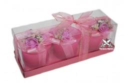 Свечи подарочные ароматические 3шт