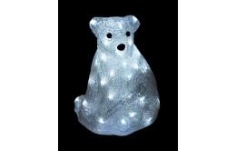 """Фигура новогодняя светящаяся """"Белый медведь"""" 28см"""