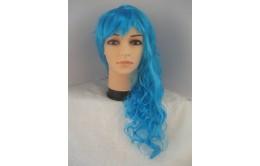 Голубой карнавальный парик
