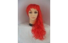 Красный карнавальный парик