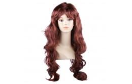 Коричневый карнавальный парик
