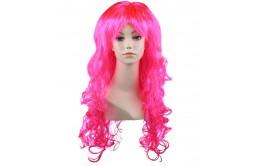 Розовый карнавальный парик