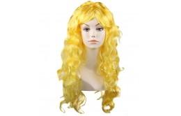 Желтый карнавальный парик
