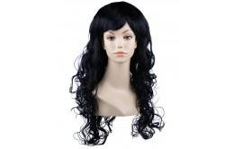 Черный карнавальный парик