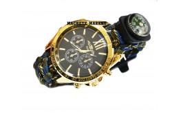 Тактические часы (паракорд-огниво-компас)