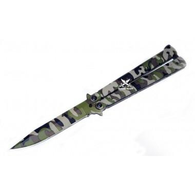 Нож бабочка камуфляжный