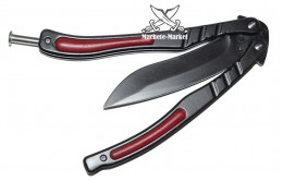 Нож бабочка JL BLACK RED