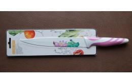 Нож кухонный декорированный 19см