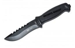 Нож туристический в пластиковых ножнах 1458A