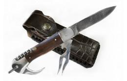 Складной нож из дамасской стали «Турист-4»