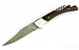 Складной нож из дамасской стали «Гусар-2»