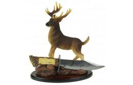 Сувенирная композиция с ножом и оленем