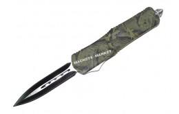 Нож выкидной фронтальный MICTECH Double edge