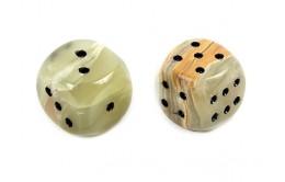 Кубики для игры в нарды из оникса