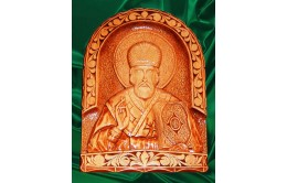 Икона из дерева  Николай Чудотворец