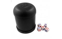 Стакан для игры в кости с кубиками
