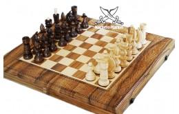 Нарды с шахматами резные 50х25см
