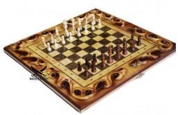 Нарды шахматы резные 2в1