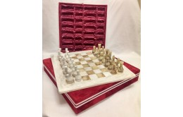 Шахматы каменные из оникса и мрамора
