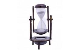 Песочные часы компас в металлическом корпусе