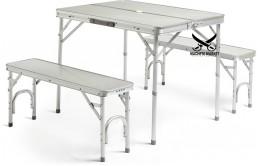 Стол складной для кемпинга + 2 скамьи