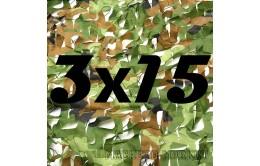 Сетка маскировочная камуфляжная двухслойная 3x15м