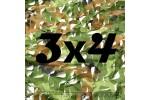 Сетка маскировочная камуфляжная двухслойная 3x4м