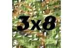 Сетка маскировочная камуфляжная двухслойная 3x8м