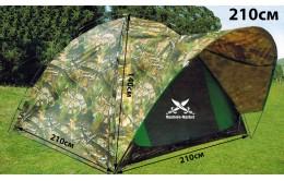 Палатка туристическая трёхместная 210х210х140см