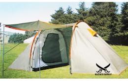 Палатка туристическая 4 местная с тамбуром и навесом