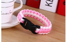 "Браслет - паракорд ""Pink White"""