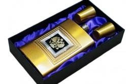 Фляга подарочная с гербом России