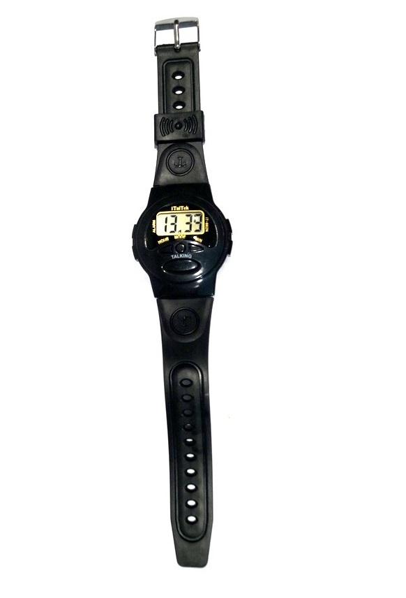 Наручные кварцевые часы с речевым выходом в подарочной упаковке.