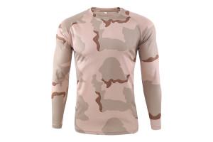 """Тактическая футболка с длинным рукавом """"Триколор пустыня"""""""