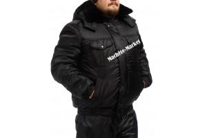 Куртка охранника чёрная утеплённая