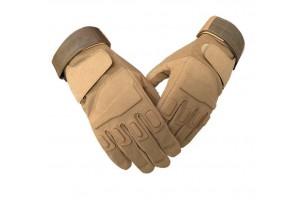Тактические перчатки с накладками Khaki